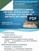 Mejoramiento Del Camino Vecinal Nueva Union - La Florida
