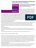 How to crack the 'Out of context' type Jumbled Paragraphs in CAT 2014 exam
