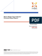 OPP MBTI Personal Impact Report Verification English