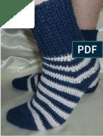 Crochet Striped Men's Socks
