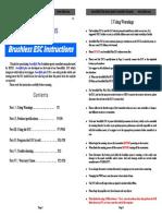 Swordfish Plus ESC Manuals