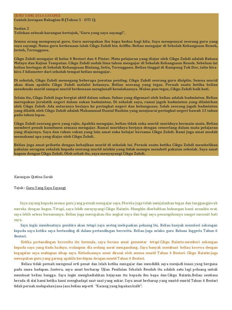Contoh Karangan Biografi Guru Kesayangan Saya Brad Erva Doce Info