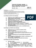 Sessional Test-I JPR 2007-2008