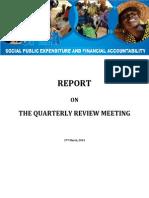 SPEFA Review Meeting