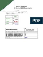 Result Analysis - TYIF JPR 2008-2009