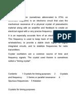 Crystal oscillator - details complete