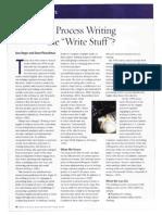 is process writing the write stuff