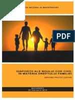 Dispozitii Ale Noului Cod Civil in Materia Dreptului Familiei - Unificarea Practicii Judiciare