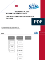 4-Hidroelectric Power Plants - Automation Using Iec 61850 - Experiences and Improvements for the User