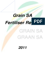 Grain SA Fertilizer Report 2011