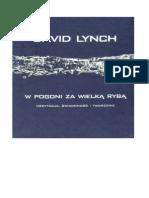 Lynch David - W Pogoni Za Wielką Rybą. Medytacja, Świadomość i Tworzenie