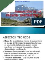 PRESIÓN  BAROMÉTRICA