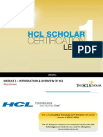 Module 1-Introduction & Overview of HCL