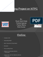 NTPC financial statement analysis