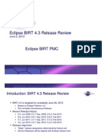 Eclipse BIRT 4.3 Release Review