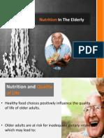 Nutrition in the Elderly1