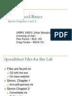 Excel Basics