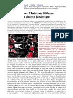 Rencontre Avec Christian Béthune Arpenteur Du Champ Jazzistique _ Journal Des Grandes Ecoles