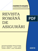 Revista Romana de Asigurari an 2010 Nr.4