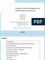 Optimal Sizing of Grid Connected Hybrid Wind Pv Systems With Battery Bank Storage