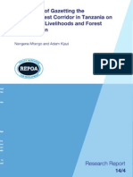 The Impact of Gazetting the Derema Forest Corridor in Tanzania on Community Livelihoods and Forest Conservation