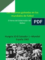 Las Máximas Goleadas en Los Mundiales de Fútbol