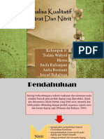 Ppt Analisa Nitrat Dan Nitrit
