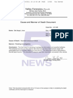 Cause and Manner of Death Document