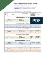 Gindt 2014 API Shedules