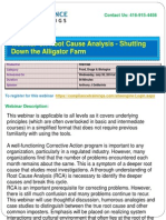 Webinar on Root Cause Analysis Shutting Down the Alligator Farm