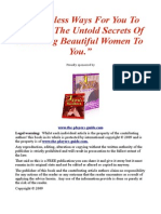 9 Priceless Ways for You to Discover the Untold Secrets of Attracting Beautiful Women