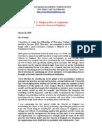 Philpot, J.C - Letter of Resignation