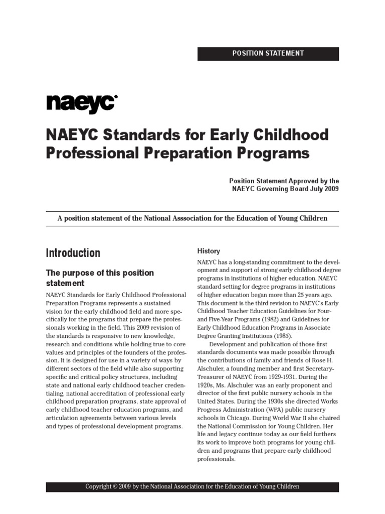 Ece 430 naeyc standards early childhood education curriculum malvernweather Gallery