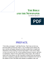 Spurgeon, Charles - Bible and The Newspaper The