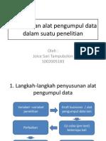 Penyusunan Alat Pengumpul Data Dalam Suatu Penelitian