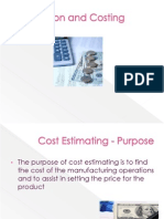 Estimation and Costing