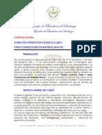 Convocatoria Clase f 2014