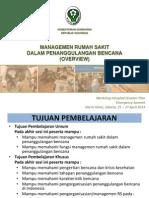 Materi Manajemen RS Penanggulangan Bencana