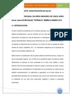 EVALUACION DEL ESTADO NUTRICIONAL MENORES DE 5 A+æOS ENERO A MARZO 2013 TUTIMAYU