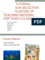 Factors in selection and evaluation of teaching material