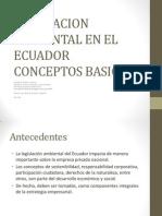 Regulacion Ambiental en Ecuador SEDUCSG MLRoche 2013