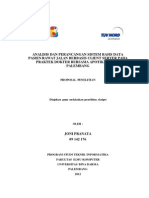 Analisis Dan Perancangan Sistem Basis Data Pasien Rawat Jalan Berbasis Client Server Pada Praktek Dokter Bersama Apotik Adhitia Palembang