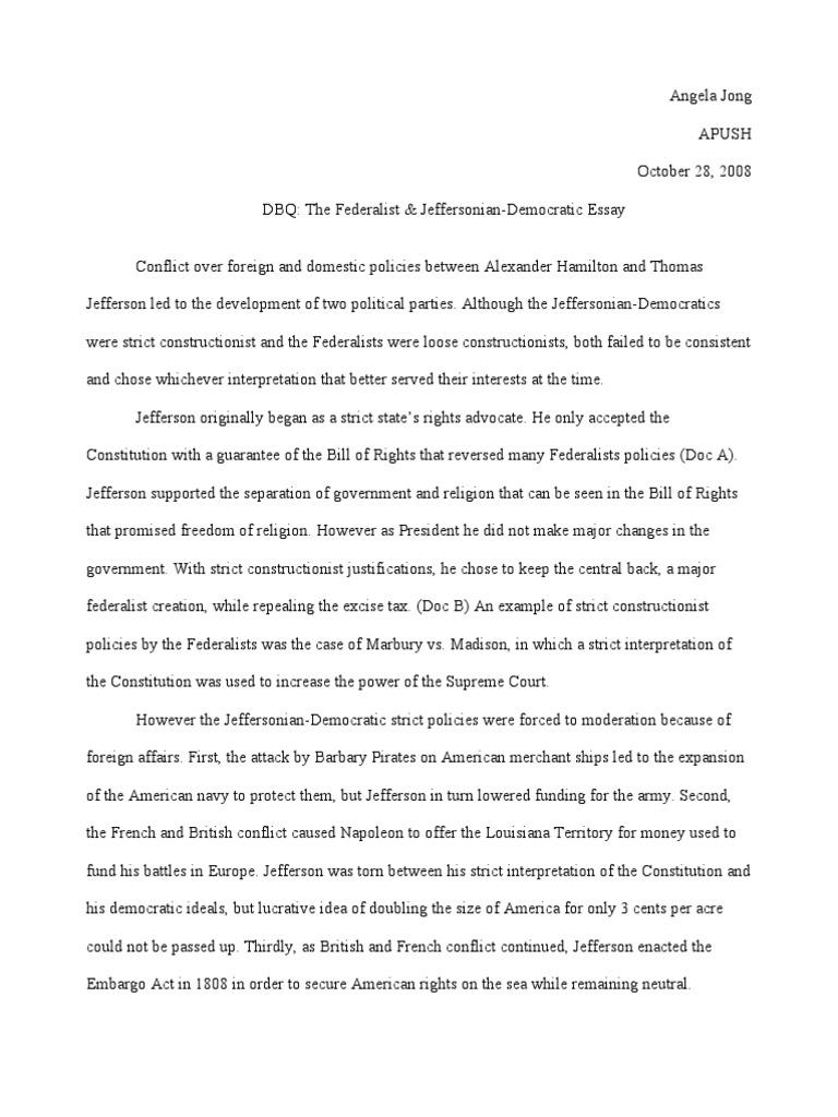 democratic republicans vs federalists essay 91 121 113 106 democratic republicans vs federalists essay