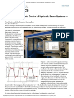 Advances in Electronic Control of Hydraulic Servo Systems — Part 2