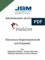 Estructura Organizacional - Holcim Ecuador