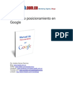 Manual de Posicionamiento en Google