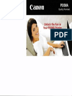 Canon PIXMA printer brochure