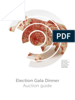 Labour Gala Dinner Auction Guide