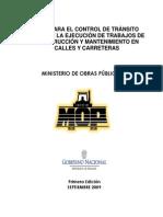 Manual Para El Control de Tránsito MOP