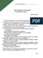 Jabés & Lévinas - Soy Una Huella (Nombres, Nov. 1996)